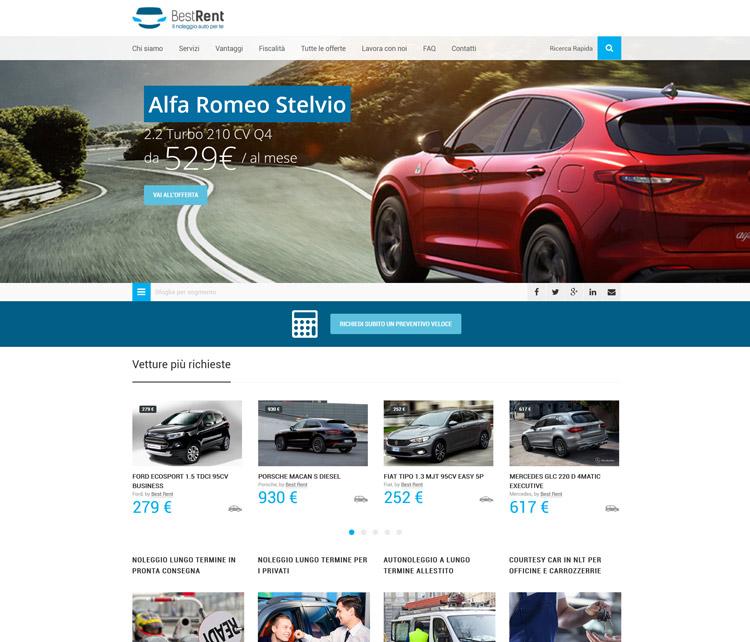 nuovo sito best rent web noleggio lungo termine